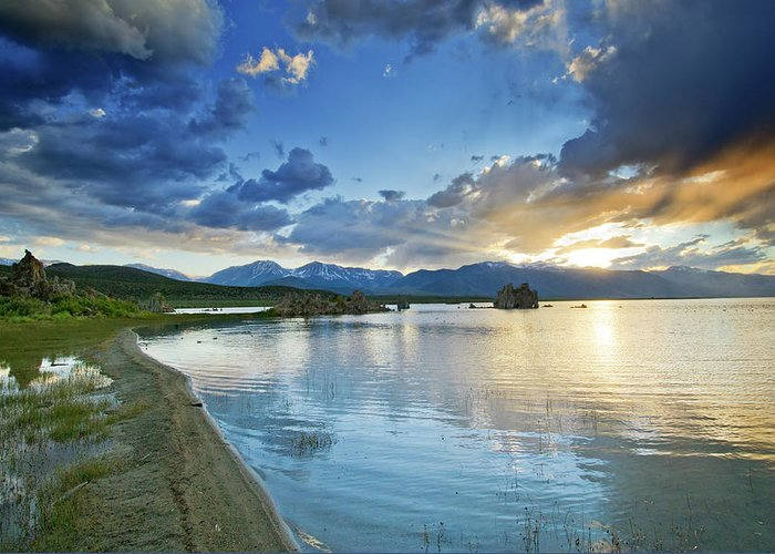 Mono Greeting Card featuring the photograph Mono Lake Majesty - California by Brendan Reals