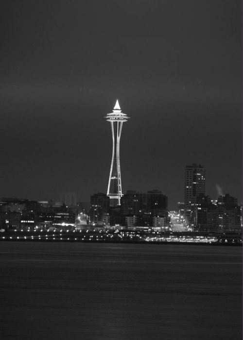 Seattle Greeting Card featuring the photograph Monochrome Needle by Michael Merry