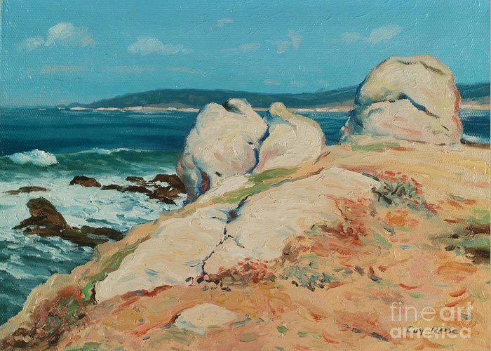 California Greeting Card featuring the painting Monterey Coast by Guy Rose