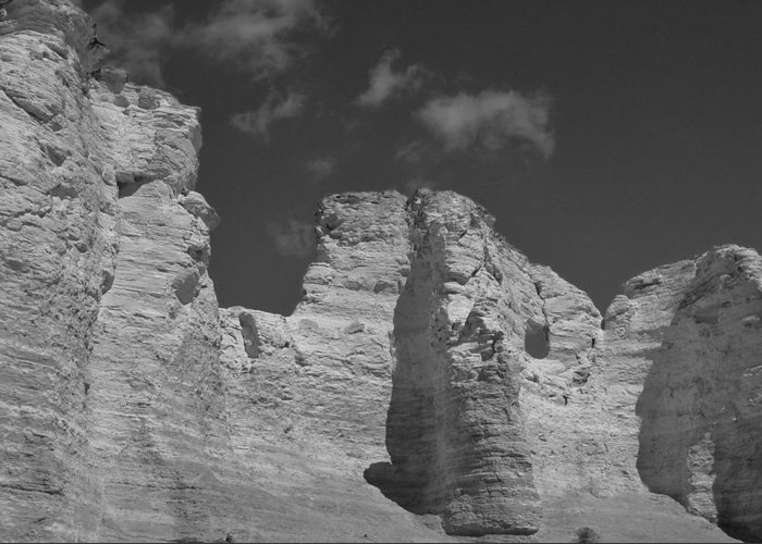 Monument Rocks 2 Greeting Card featuring the photograph Monument Rocks 2 by Elizabeth Sullivan