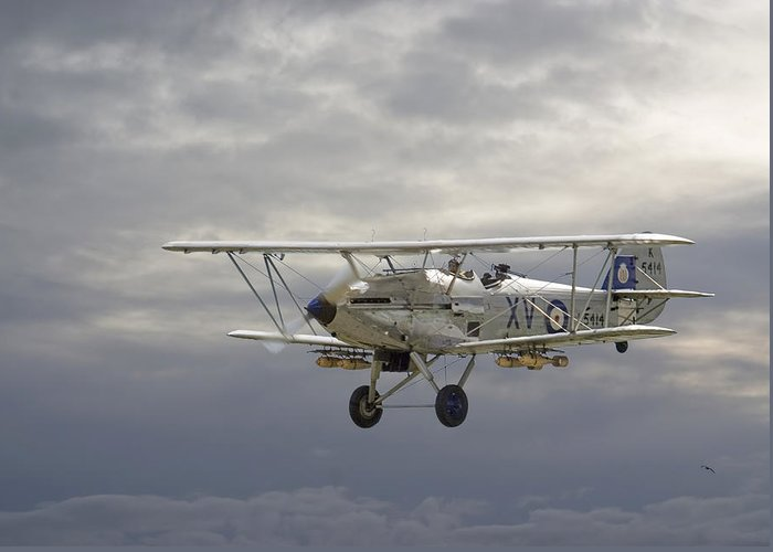 Aircraft Greeting Card featuring the photograph Moody Blue by Pat Speirs