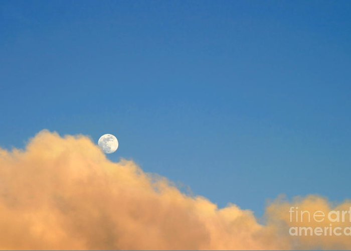 Ventura Greeting Card featuring the photograph Moon At Sunset by Henrik Lehnerer