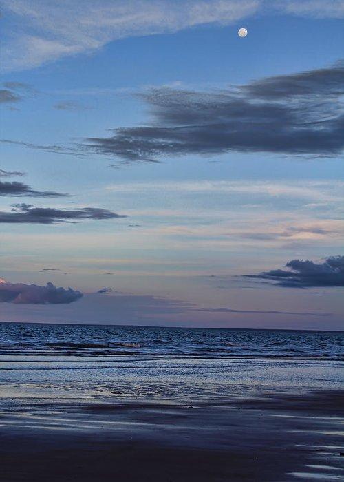 Sea Greeting Card featuring the photograph Moon Beach by Douglas Barnard