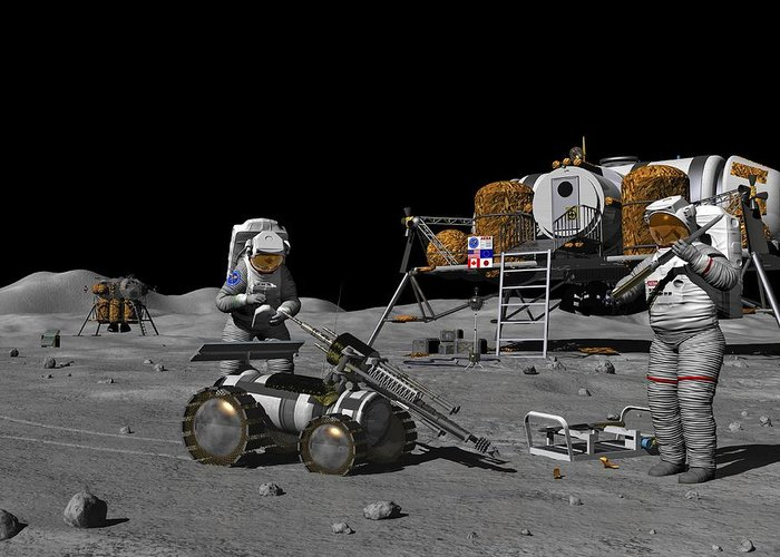 Equipment Greeting Card featuring the photograph Moon Exploration, Artwork by Walter Myers