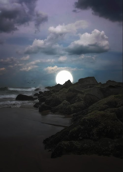 Moonlight Greeting Card featuring the photograph Moonlight Tonight by Tom York Images