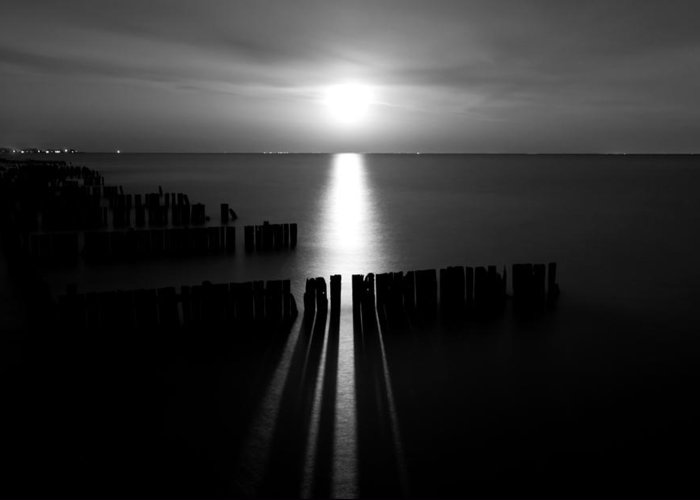 Lake Greeting Card featuring the photograph Moonrise 2 by Cale Best