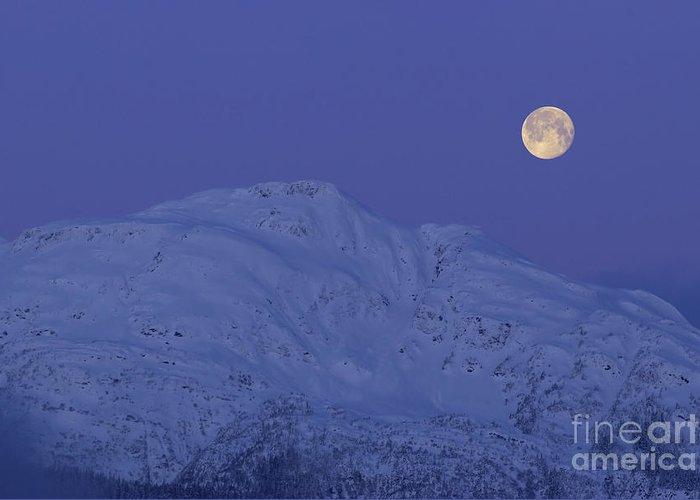 Scenic Greeting Card featuring the photograph Moonset At Dawn by Yuichi Takasaka
