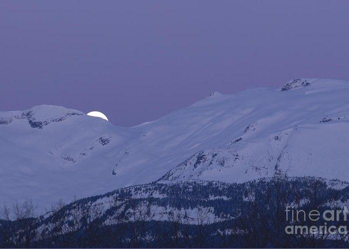 Band Of Venus Greeting Card featuring the photograph Moonset by Yuichi Takasaka