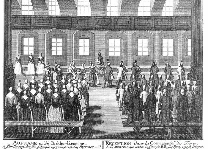 1757 Greeting Card featuring the photograph Moravians, 1757 by Granger