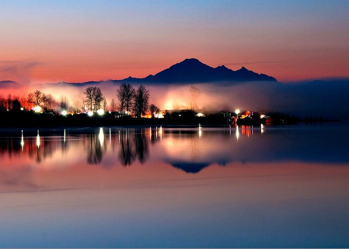 Mount Baker Greeting Card featuring the photograph Morning Light And Fog by Detlef Klahm