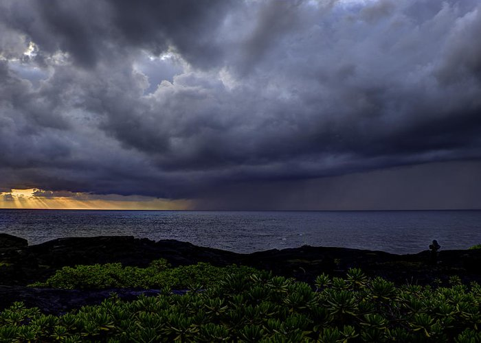 Sunrise Greeting Card featuring the photograph Morning Squall by Mike Herdering