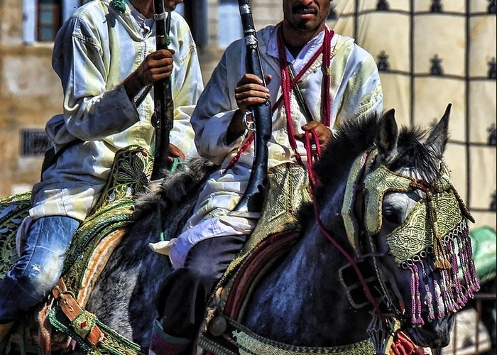 Morocco Greeting Card featuring the photograph Morocco Dual by Chuck Kuhn