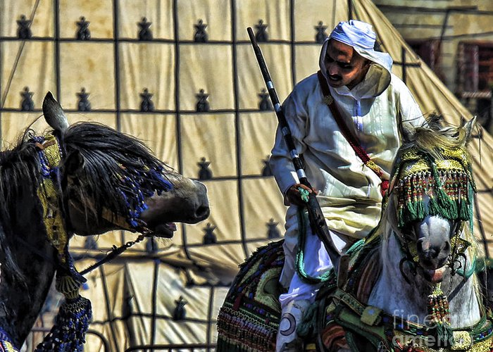Morocco Greeting Card featuring the photograph Morocco Festival II by Chuck Kuhn