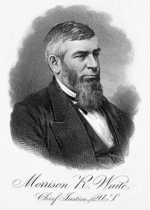 19th Century Greeting Card featuring the photograph Morrison R. Waite (1816-1888) by Granger