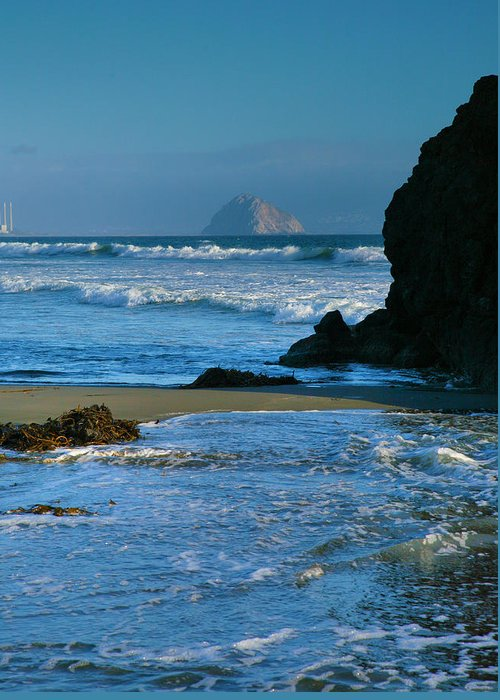 Pacific Ocean Greeting Card featuring the photograph Morro Bay Shoreline II by Steven Ainsworth