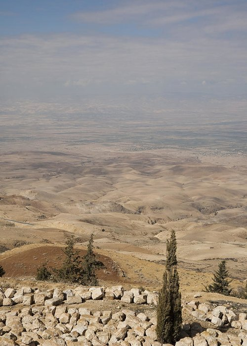 Mount Nebo Greeting Card featuring the photograph Moses First Saw The The Holy Land by Taylor S. Kennedy