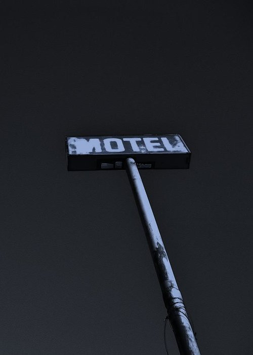 Modern Greeting Card featuring the photograph Motel by Shawn Savage