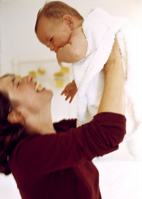 Mother Greeting Card featuring the photograph Mother And Baby by Ian Boddy