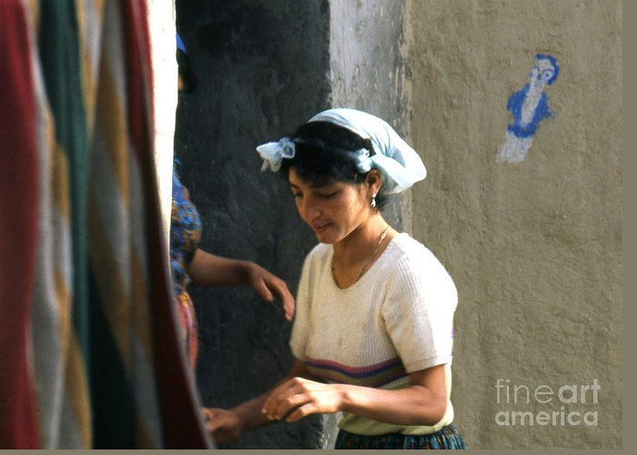 Home Greeting Card featuring the photograph Mother And Daughter Algeria by Erik Falkensteen
