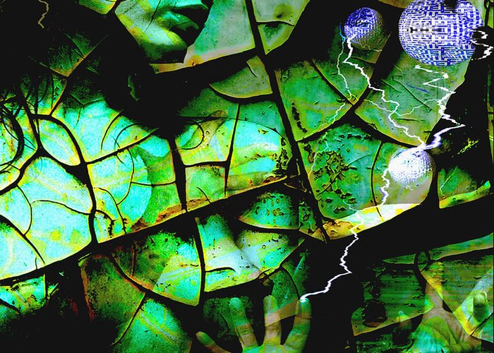 Mother Earth Greeting Card featuring the digital art Mother Earth by Yvon van der Wijk