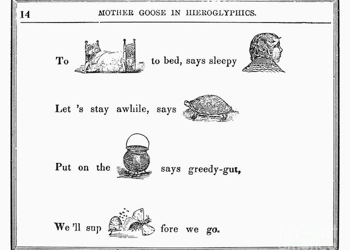 1849 Greeting Card featuring the photograph Mother Goose, 1849 by Granger