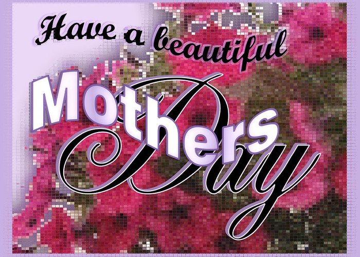 Greeting Card Greeting Card featuring the digital art Mothers Day Pink Petunias by Susan Kinney