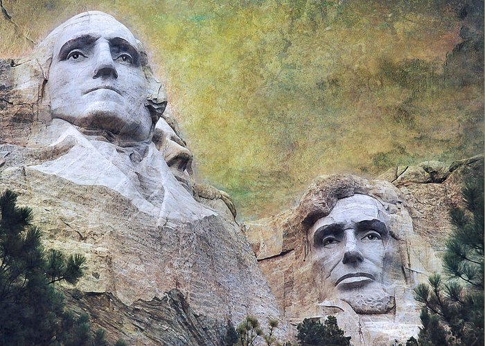 Mount Rushmore Greeting Card featuring the photograph Mount Rushmore - My Impression by Jeff Burgess