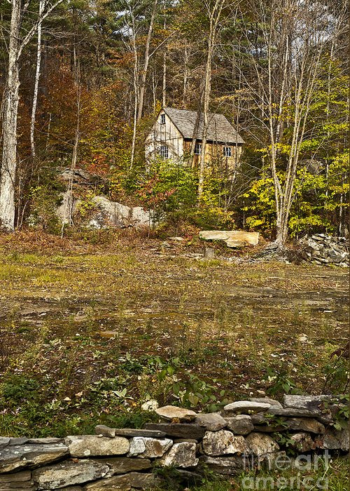 Remote Mountain Cabin Greeting Card featuring the photograph Mountain Cabin by John Greim
