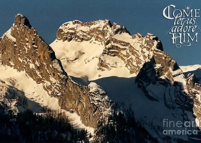 Winter Greeting Card featuring the photograph Mountain Christmas Austria Europe by Sabine Jacobs