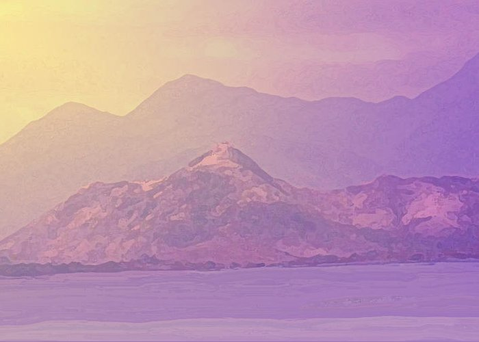 St Kitts Greeting Card featuring the photograph Mountain Morning Sunrise by Ian MacDonald