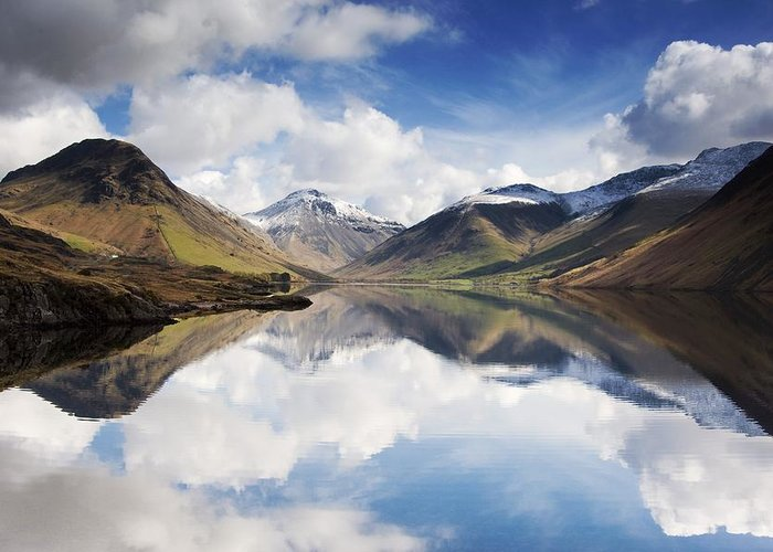 Cumbria Greeting Card featuring the photograph Mountains And Lake, Lake District by John Short