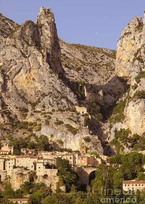 Alpes Greeting Card featuring the photograph Moustier-sainte-marie by Brian Jannsen