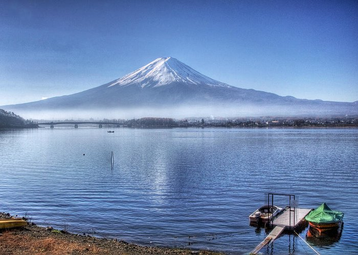 Mountain Greeting Card featuring the photograph Mt Fuji by Kean Poh Chua