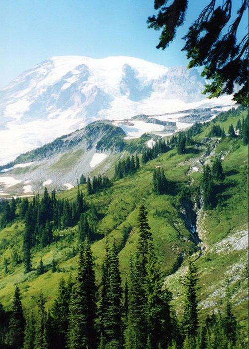 Mount Rainier Photographs Greeting Card featuring the photograph Mt. Rainier by C Sitton