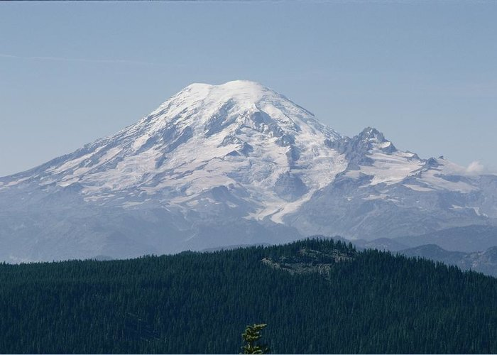 Mount Rainier Greeting Card featuring the photograph Mt. Rainier Seen From The Yakima Valley by Sisse Brimberg