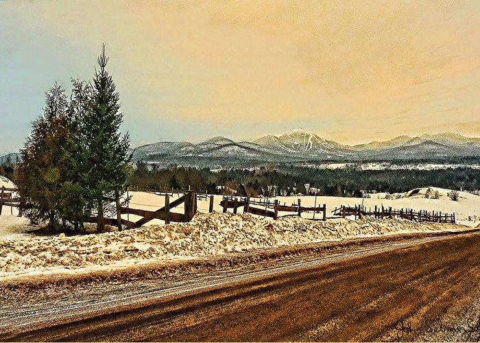 Vermont Greeting Card featuring the digital art Mud Season by John Selmer Sr