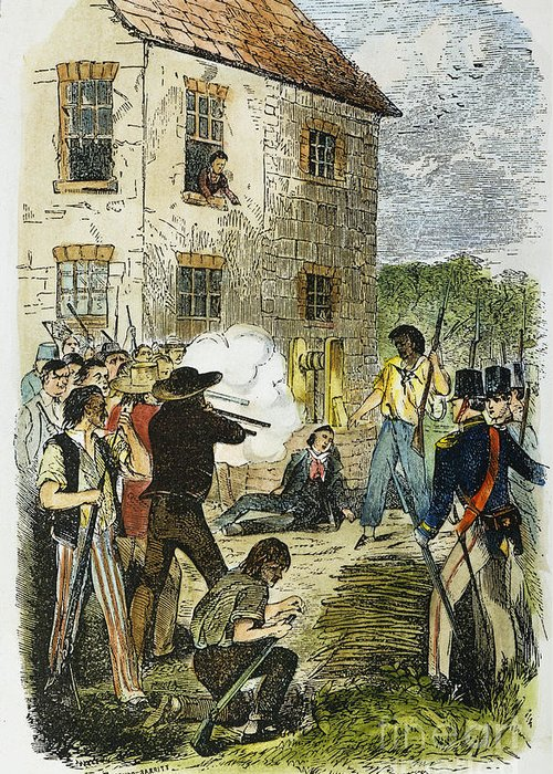 1844 Greeting Card featuring the photograph Murder Of Joseph Smith by Granger