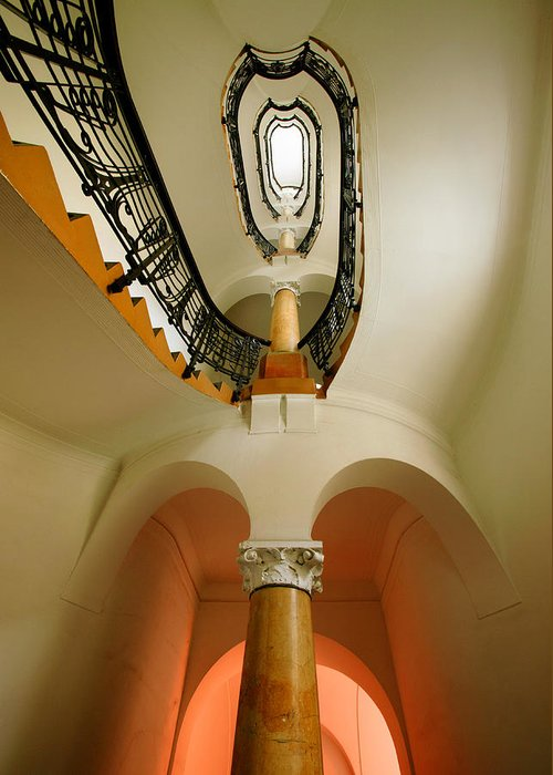 Staircase Greeting Card featuring the photograph Music Score by John Galbo