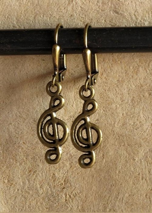 Jewelry Greeting Card featuring the jewelry Musique by Jan Brieger-Scranton