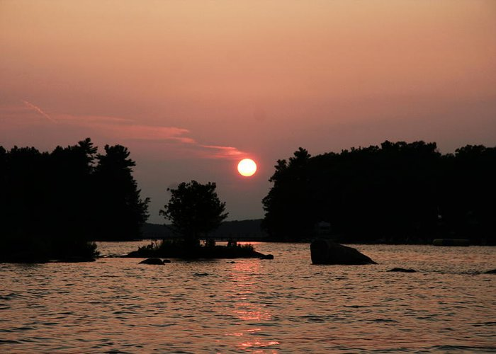 Water Greeting Card featuring the photograph Muskoka Sunset by Dr Carolyn Reinhart