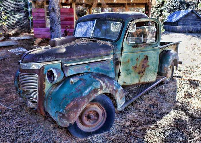 Truck Greeting Card featuring the photograph My Old Truck by Garry Gay