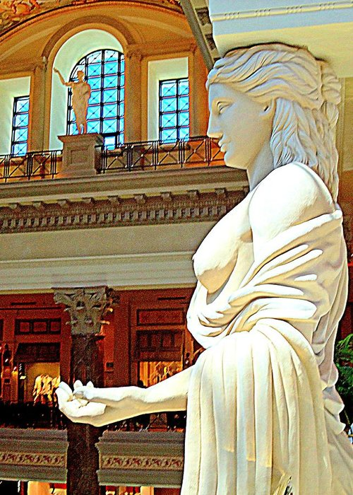 Vegas Greeting Card featuring the photograph My Vegas Caesars 17 by Randall Weidner