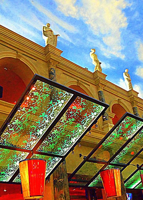 Vegas Greeting Card featuring the photograph My Vegas Caesars 19 by Randall Weidner