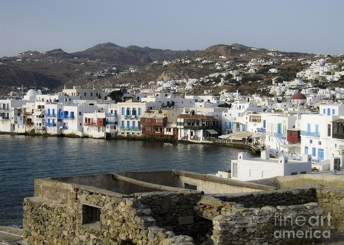 Mykonos Greeting Card featuring the photograph Mykonos by Leslie Leda
