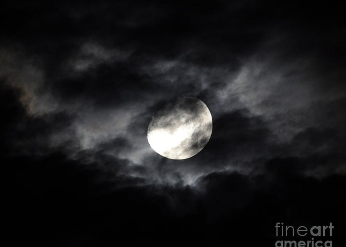 Moon Greeting Card featuring the photograph Mystic Moon by Al Powell Photography USA