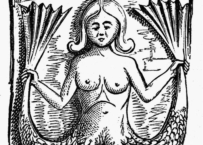 Ancient Greeting Card featuring the photograph Mythology: Mermaid by Granger