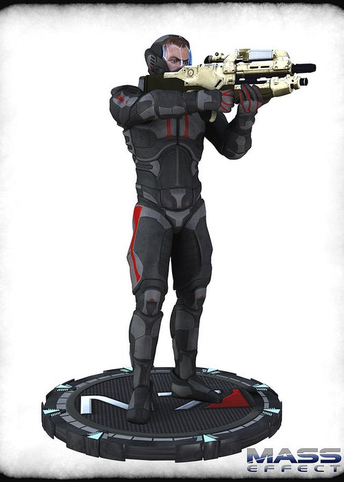 Mass Effect Greeting Card featuring the digital art N7 Soldier V1 by Frederico Borges