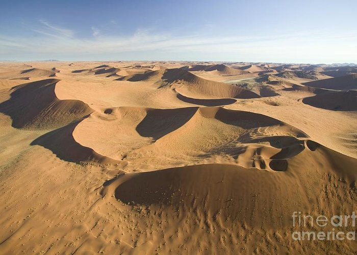 Desert; Landscape; Birds Eye View; Remote; Wilderness; African; Arid; Dry; Empty; Hot; Dunes; Epic; Distance; Sand Dunes; Formation; Geological; Formations; Scenic Greeting Card featuring the photograph Namib Desert by Namib Desert