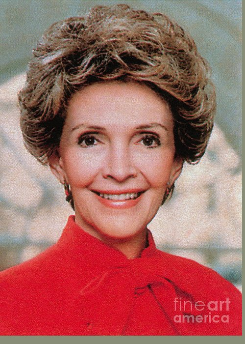 Historic Greeting Card featuring the photograph Nancy Reagan, 40th First Lady by Photo Researchers