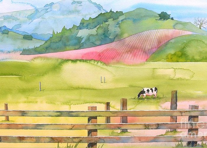 Napa Greeting Card featuring the painting Napa Valley by Robert Hooper